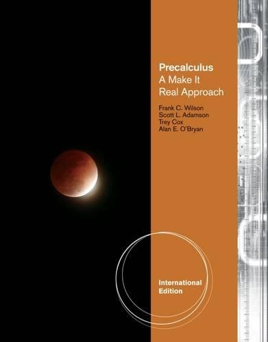 9781111988289: Precalculus: A Make it Real Approach