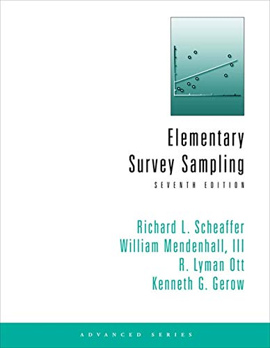 9781111988425: Student Solutions Manual for Scheaffer/Mendenhall/OTT/Gerow's Elementary Survey Sampling