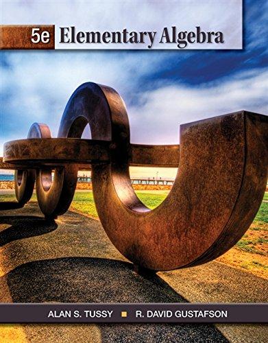Student Solutions Manual for Tussy/Gustafson's Elementary Algebra,: Alexander Lee, Alan