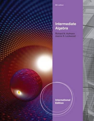 9781111989323: Intermediate Algebra, International Edition