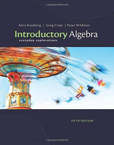 9781111989347: Introductory Algebra: Everyday Explorations