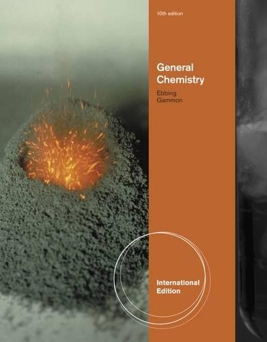 General Chemistry, Tenth Edition, International Edition, Paperback: Ebbing Gammon