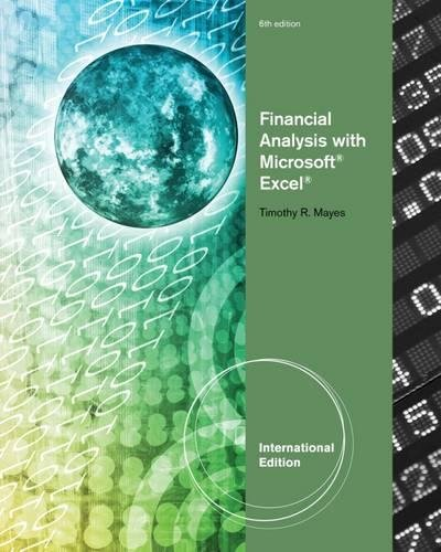 9781111989576: Financial Analysis with Microsoft (R) Excel (R), International Edition