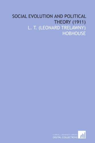 9781112007248: Social Evolution and Political Theory (1911)