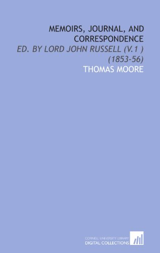 9781112014840: Memoirs, Journal, and Correspondence: Ed. By Lord John Russell (V.1 ) (1853-56)