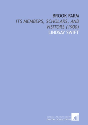 9781112025600: Brook Farm: Its Members, Scholars, and Visitors (1900)