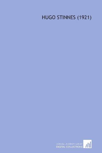 9781112029547: Hugo Stinnes (1921)