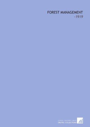 9781112239731: Forest Management: -1919