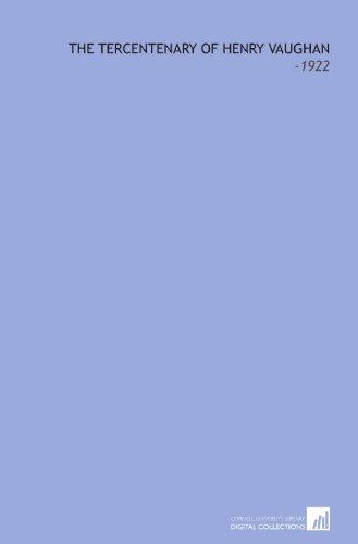 9781112252273: The Tercentenary of Henry Vaughan: -1922