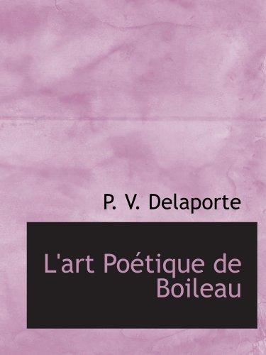 9781113013309: L'art Poétique de Boileau