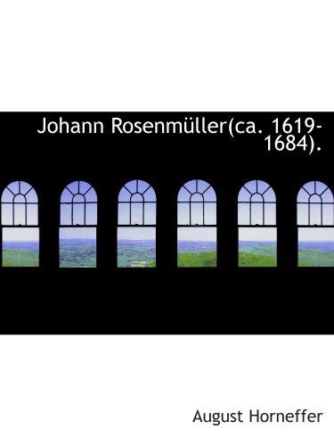 9781113014986: Johann Rosenmüller(ca. 1619-1684).