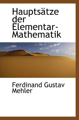 9781113019417: Hauptsätze der Elementar-Mathematik