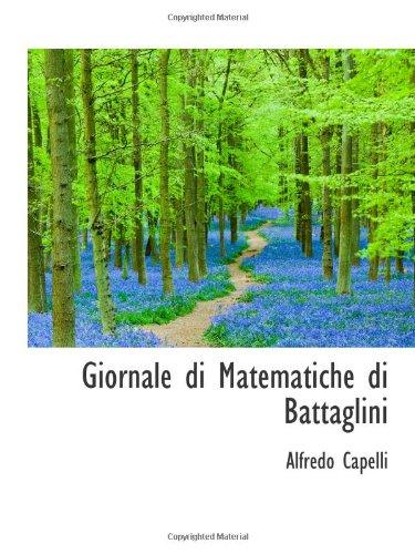 9781113031013: Giornale di Matematiche di Battaglini
