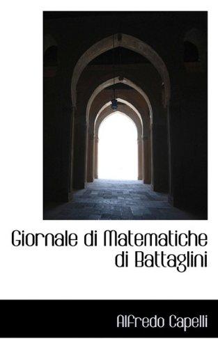 9781113031051: Giornale di Matematiche di Battaglini
