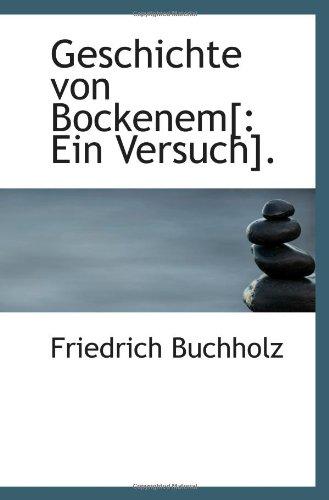 9781113070487: Geschichte von Bockenem[: Ein Versuch].