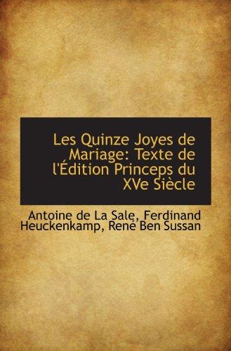 9781113095848: Les Quinze Joyes de Mariage: Texte de l'Édition Princeps du XVe Siècle