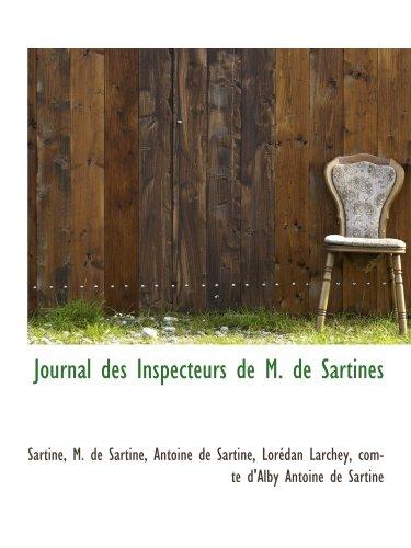 9781113108692: Journal des Inspecteurs de M. de Sartines