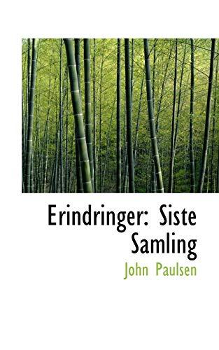 9781113116017: Erindringer: Siste Samling