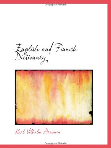 9781113126740: English and Finnish Dictionary