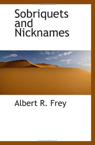 9781113171566: Sobriquets and Nicknames