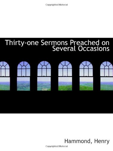 9781113175908: Thirty-one Sermons Preached on Several Occasions