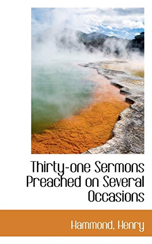 9781113175922: Thirty-one Sermons Preached on Several Occasions