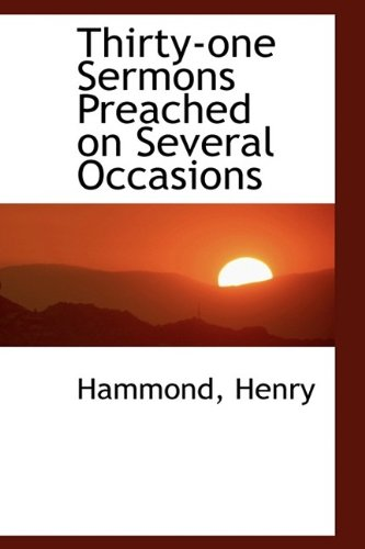 9781113175946: Thirty-one Sermons Preached on Several Occasions