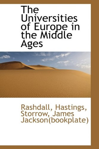 9781113177049: The Universities of Europe in the Middle Ages