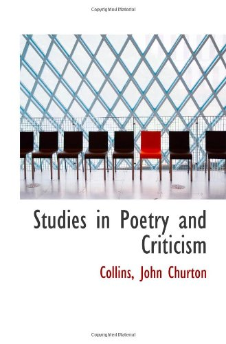 9781113218155: Studies in Poetry and Criticism