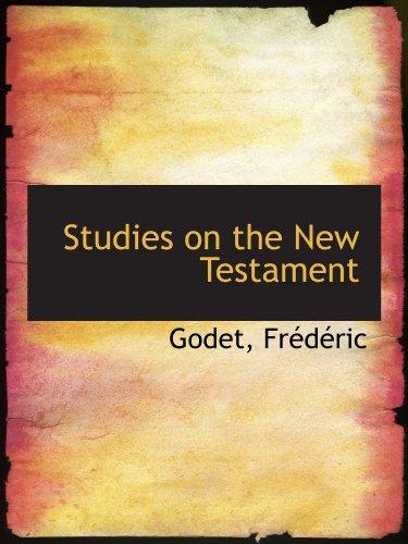 9781113218407: Studies on the New Testament