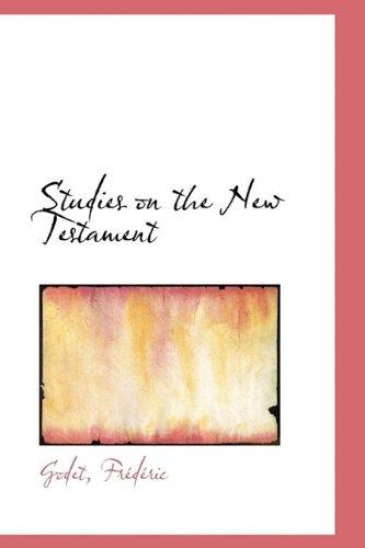 9781113218452: Studies on the New Testament