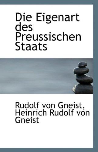 9781113228642: Die Eigenart des Preussischen Staats