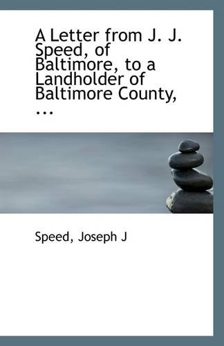A Letter from J. J. Speed, of: Speed Joseph J