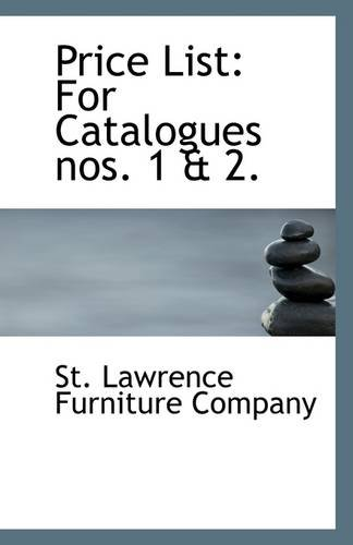 9781113326096: Price List: For Catalogues nos. 1 & 2.