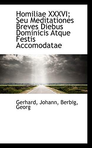 9781113379757: Homiliae XXXVI; Seu Meditationes Breves Diebus Dominicis Atque Festis Accomodatae