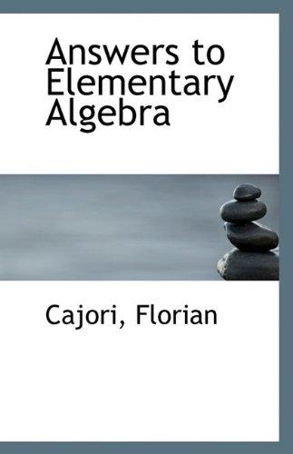 Answers Elementary Algebra - AbeBooks