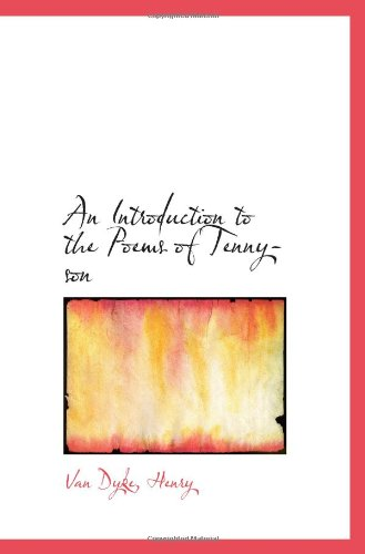 9781113432490: An Introduction to the Poems of Tennyson