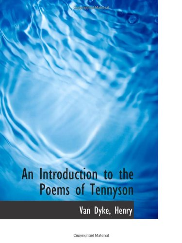 9781113432506: An Introduction to the Poems of Tennyson