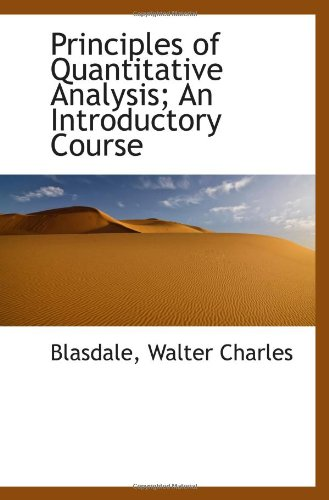 9781113455994: Principles of Quantitative Analysis; An Introductory Course