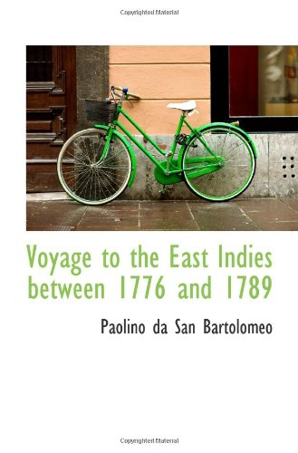 9781113494405: Voyage to the East Indies between 1776 and 1789