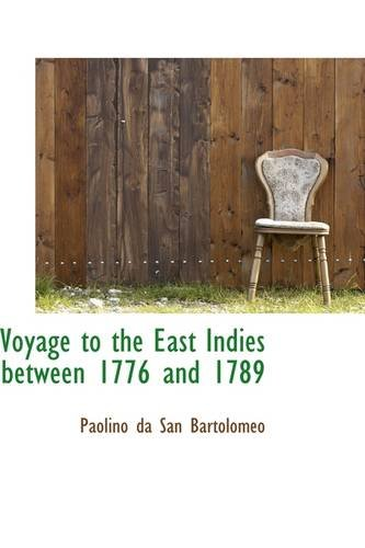 9781113494467: Voyage to the East Indies between 1776 and 1789