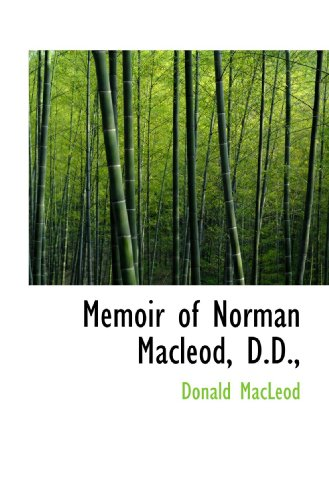 9781113820846: Memoir of Norman Macleod, D.D.,