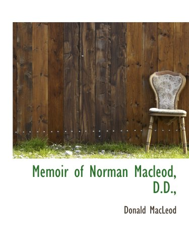9781113820877: Memoir of Norman Macleod, D.D.,