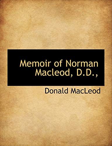 9781113820907: Memoir of Norman Macleod, D.D.,
