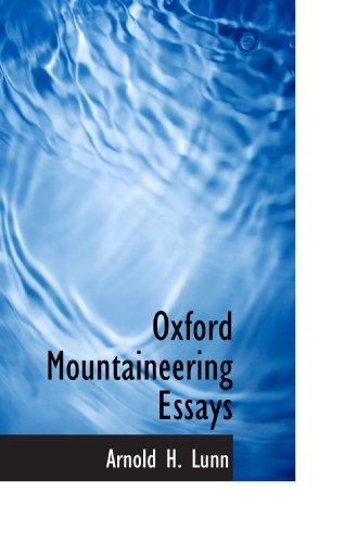 9781113862006: Oxford Mountaineering Essays
