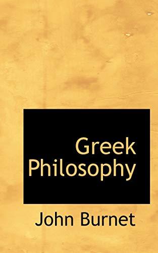 9781113862105: Greek Philosophy