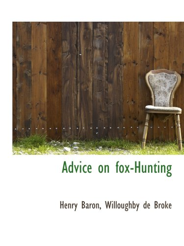 9781113949318: Advice on fox-Hunting