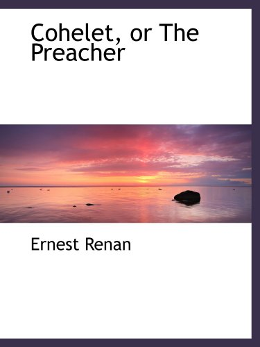 9781113978554: Cohelet, or The Preacher
