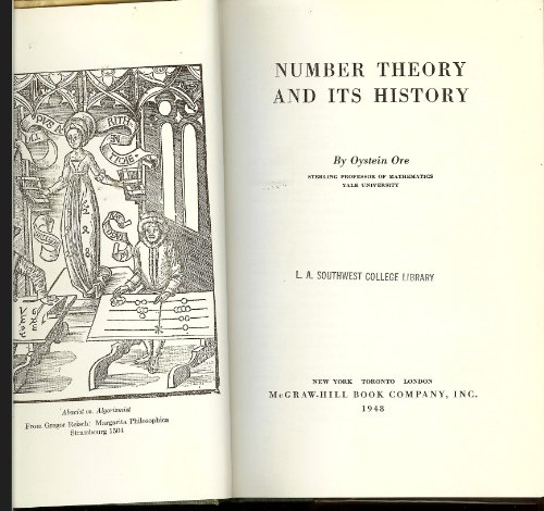 9781114132283: Number Theory and Its History [Gebundene Ausgabe] by Ore, Oystein