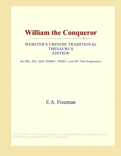 9781114146648: William the Conqueror (Webster's Chinese Traditional Thesaurus Edition)
